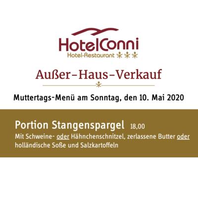 Portion Stangenspargel mit Schnitzel