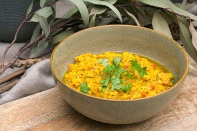 Dahl chickpea, turmeric and fennel soup | serves 2