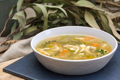 Jewish chicken (with some veg) soup | serves 2
