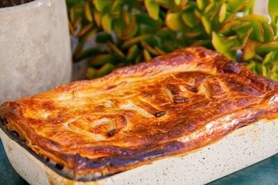 Snapper, fennel, potato, dill, bisque pie| serves 4
