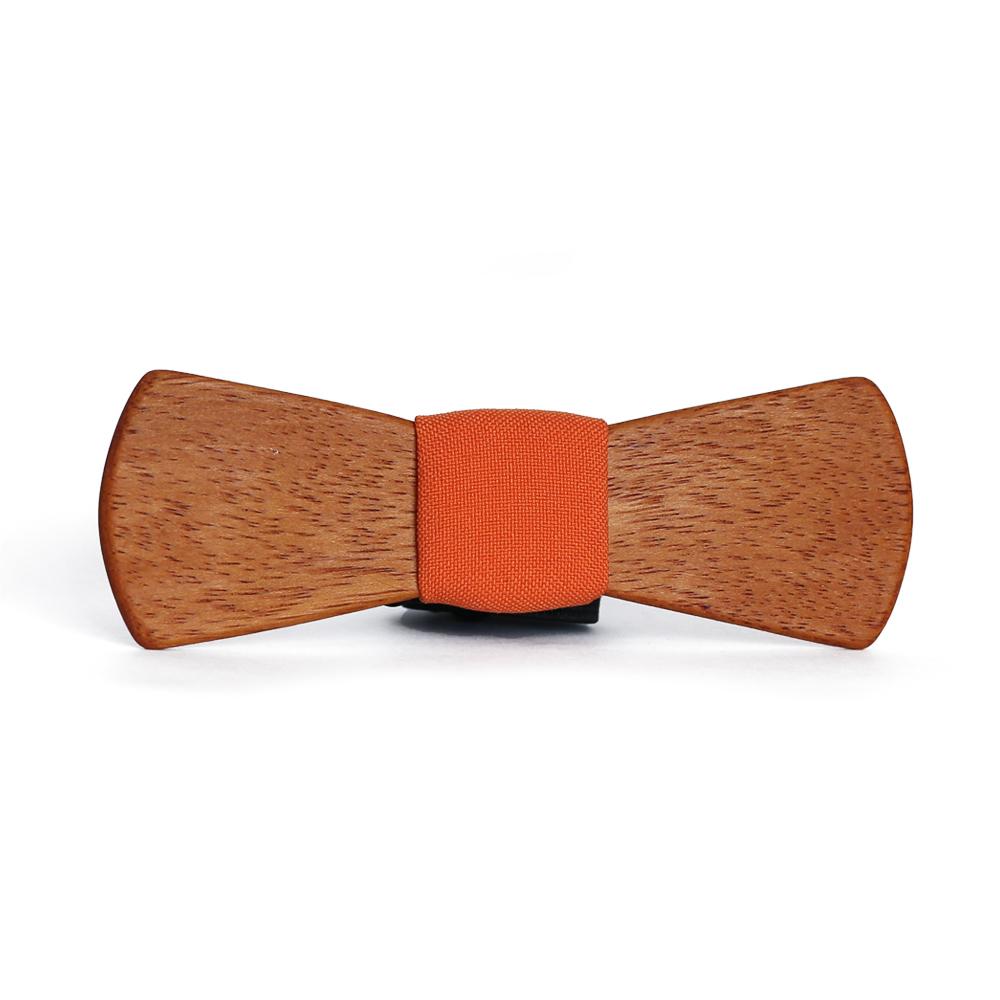 Мужской галстук-бабочка из дерева Роман Slim + платок TBT-RomanSlim