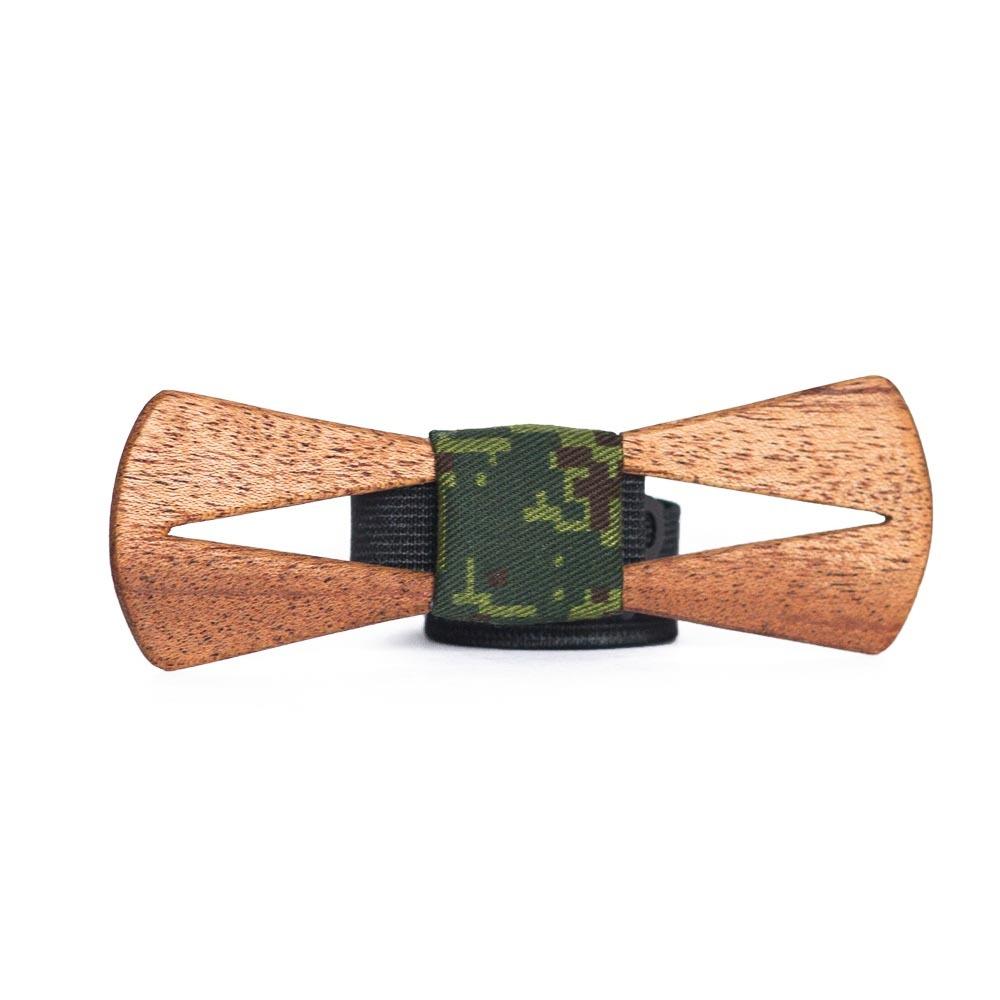 Мужской галстук-бабочка из дерева Fresh Arrow Slim + платок TBT-FreshArrowSlim
