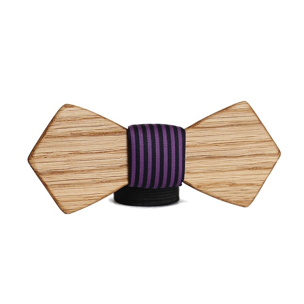 Мужской галстук-бабочка из дерева Артем Retro + платок TBT-ArtemRetro