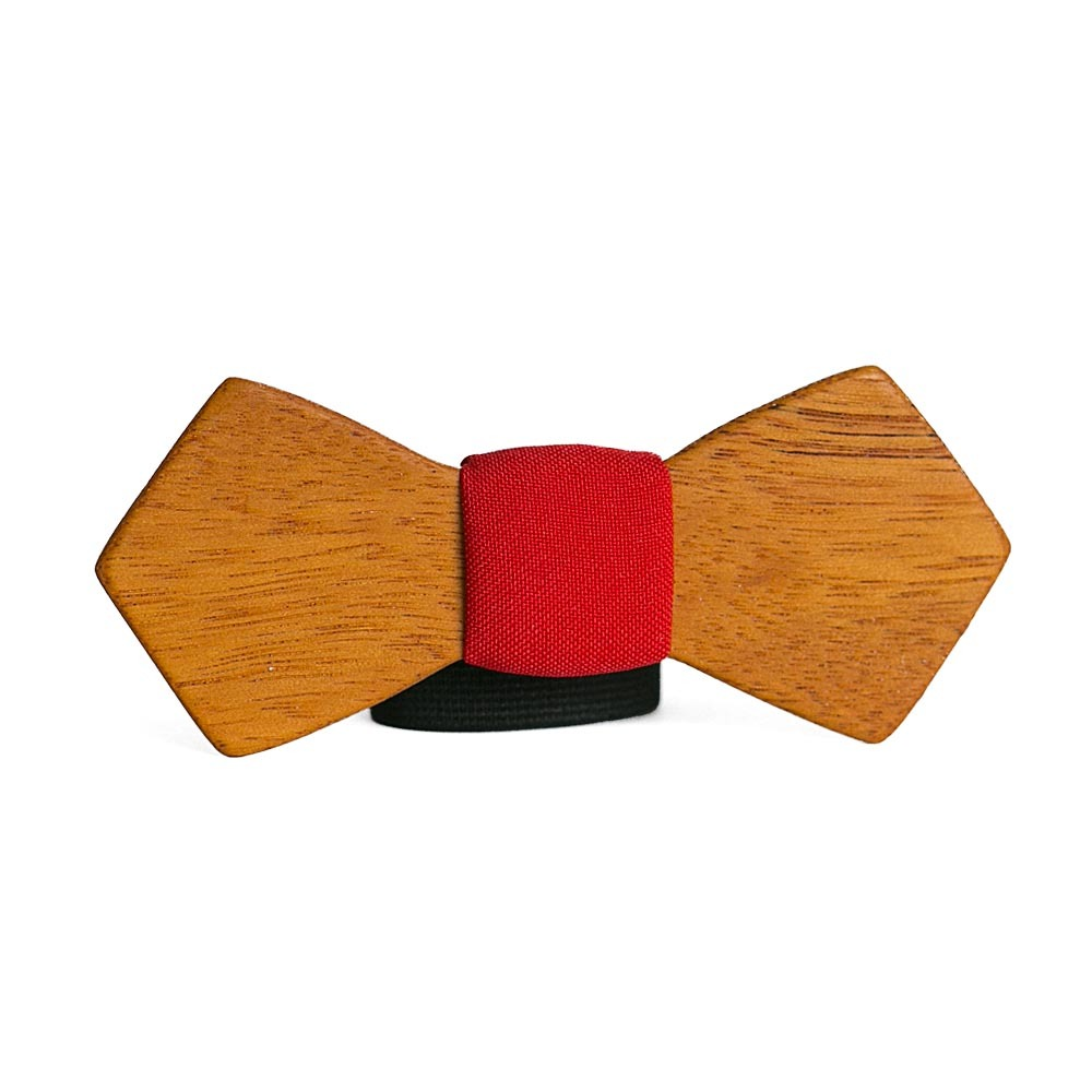 Мужской галстук-бабочка из дерева Святослав Retro + платок TBT-SvyatoslavRetro