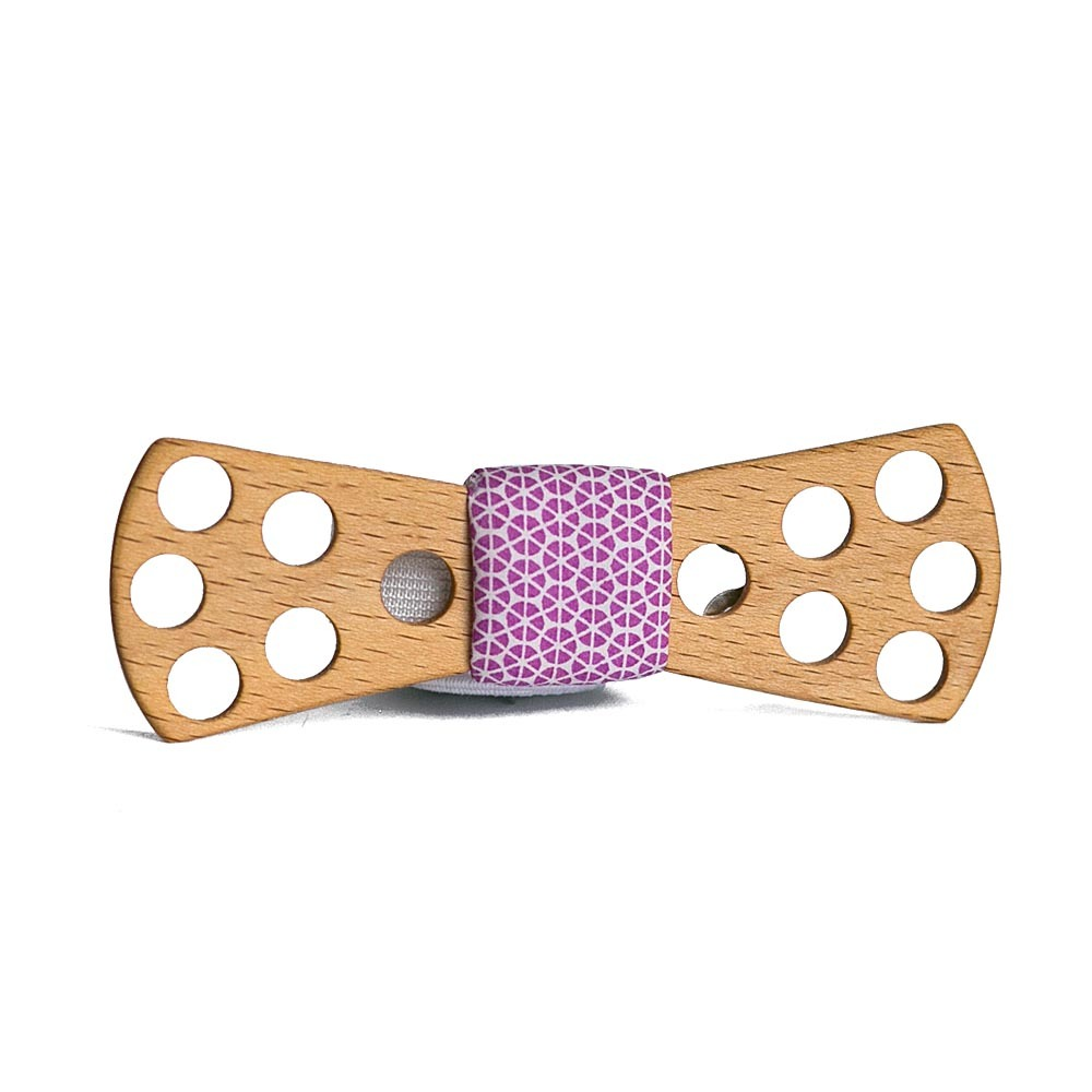 Мужской галстук-бабочка из дерева Fresh Polka Dot Slim + платок TBT-FreshPolkaDotSlim