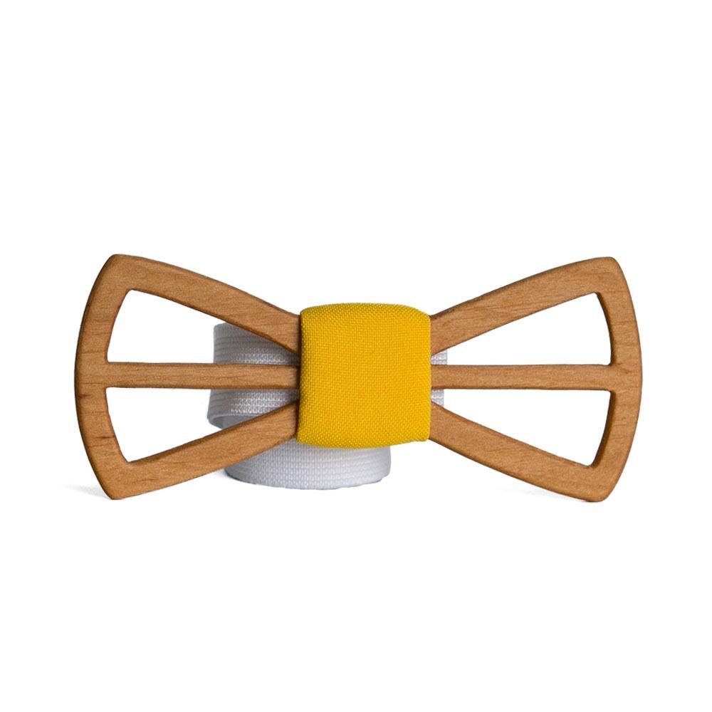 Мужской галстук-бабочка из дерева Fresh Василий Classic + платок TBT-FreshVasilyClassic