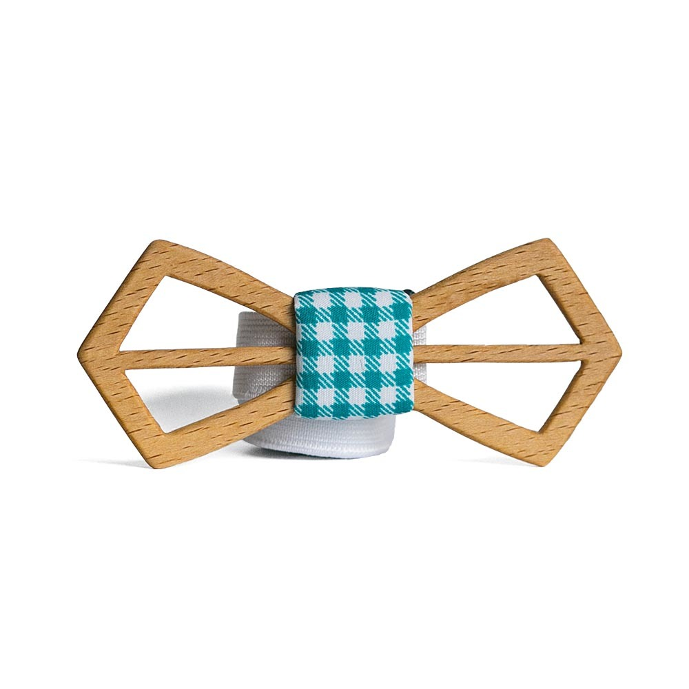 Мужской галстук-бабочка из дерева Fresh Илья Retro + платок TBT-FreshIliaRetro