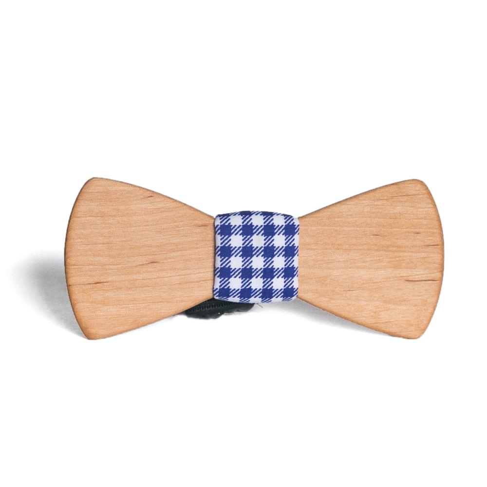 Мужской галстук-бабочка из дерева Данила Classic + платок TBT-DanilaClassic