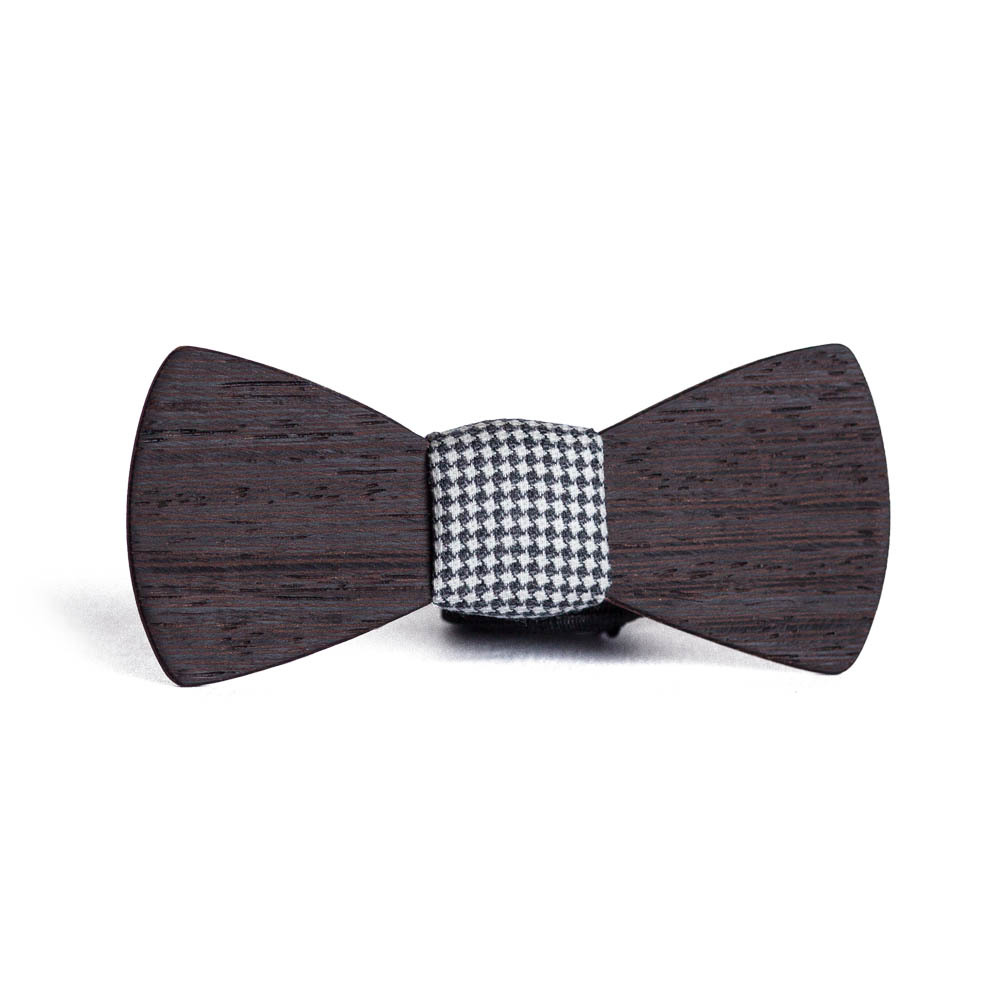 Мужской премиум галстук-бабочка из древесины венге Линкольн Classic + платок. TBTP-LincolnClassic
