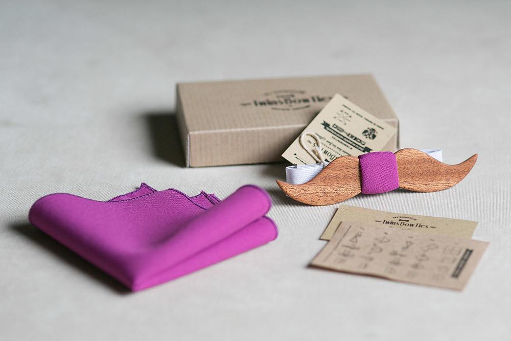 Деревянная галстук-бабочка с доставкой