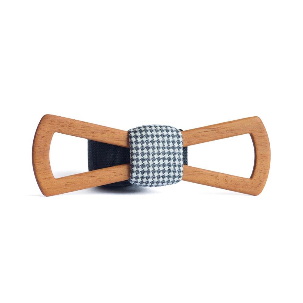 Мужской галстук-бабочка из дерева Пётр Fresh Slim + платок TBT-PiterFreshSlim