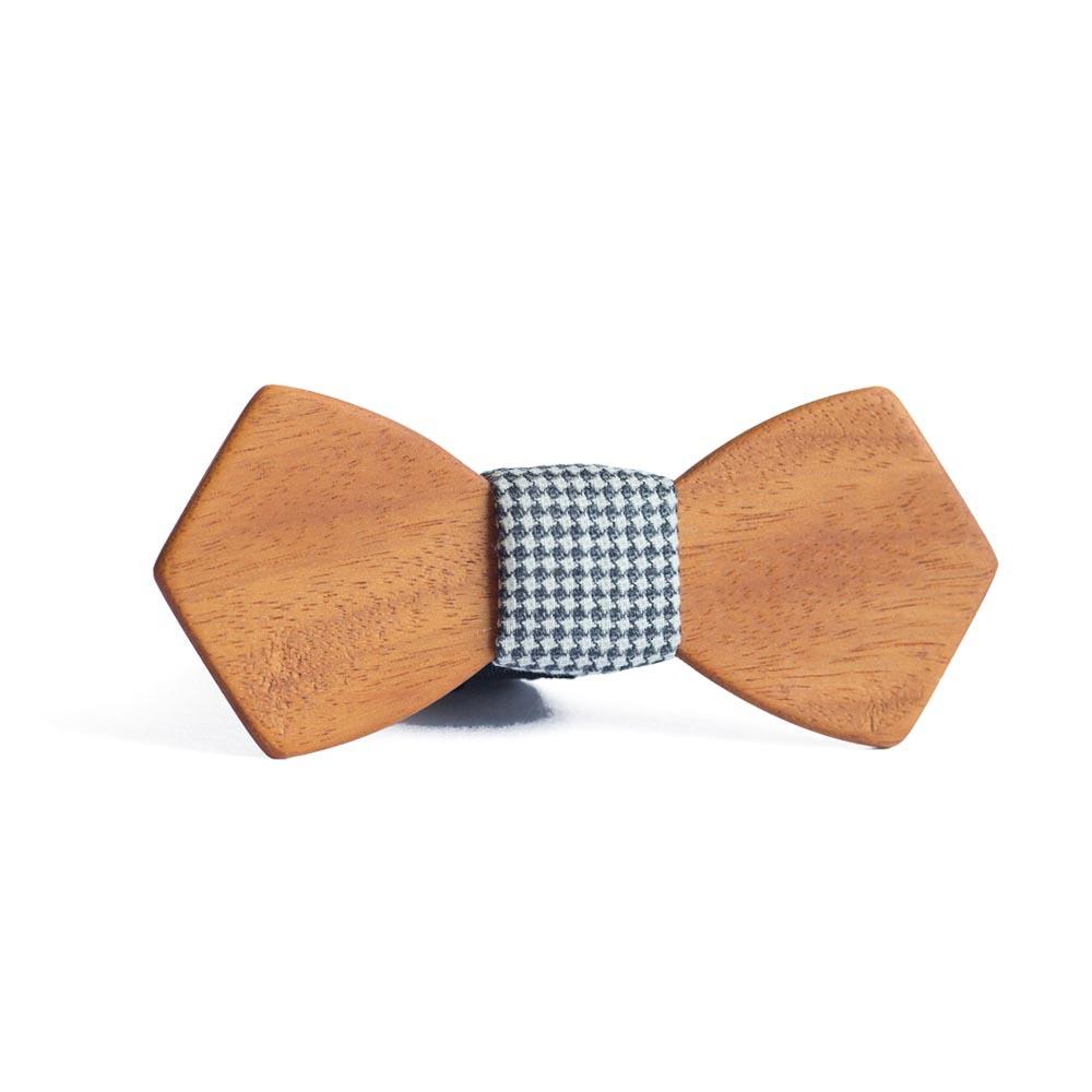 Мужской галстук-бабочка из дерева Пётр Retro + платок TBT-PiterRetro