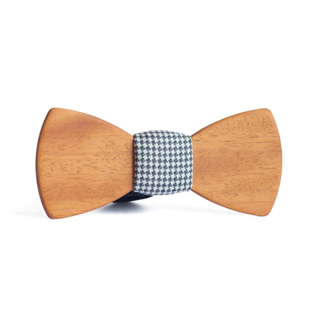 Мужской галстук-бабочка из дерева Пётр Classic + платок TBT-PiterClassic