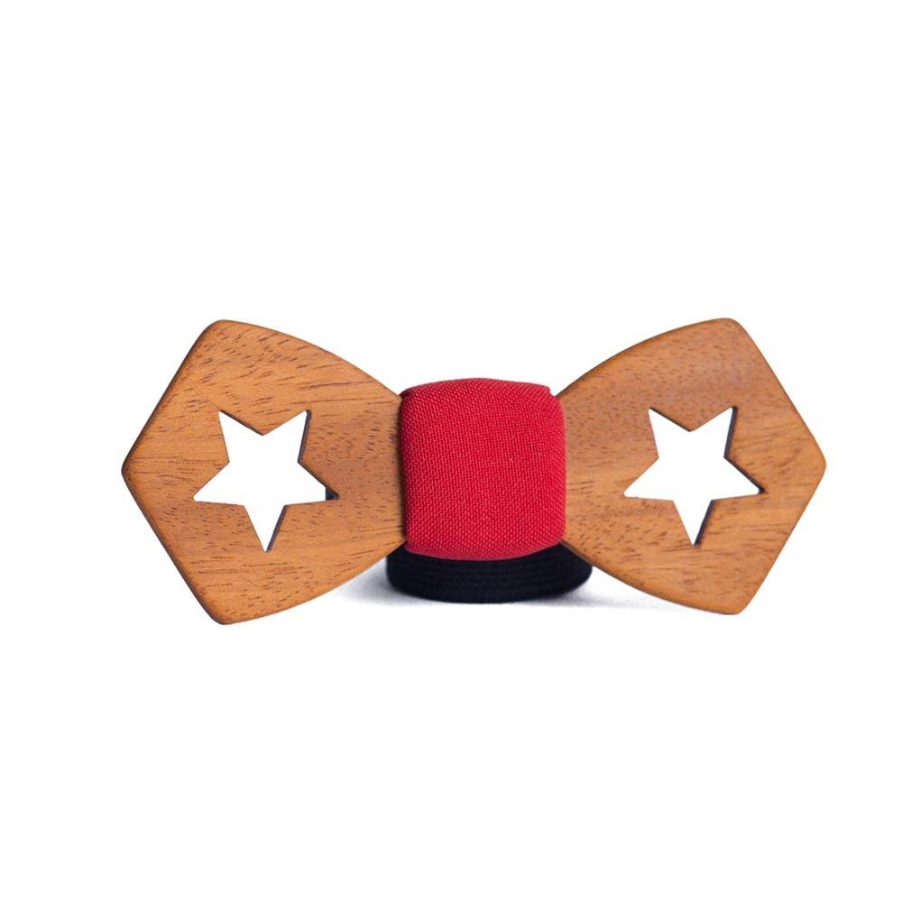 Мужской галстук-бабочка из дерева Керчь  + платок TBT-Kerch