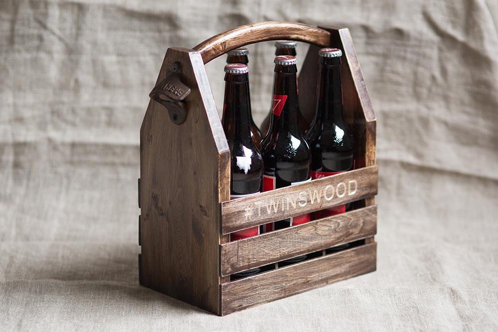 Ящик с ручкой для бутылок
