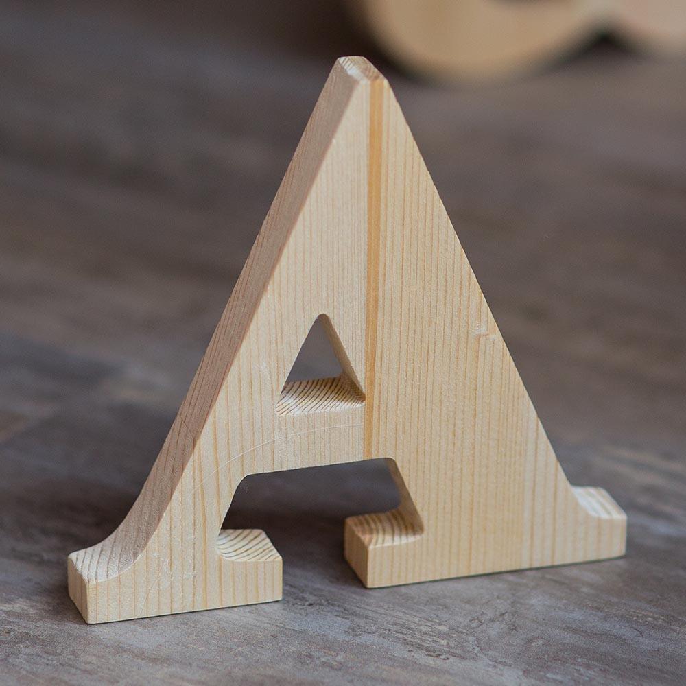 Буквы из дерева А-Я. Русский алфавит. Деревянные цифры. Массив сосны толщина 18 мм. Высота символов 15-35 см TW-ABC-Clear