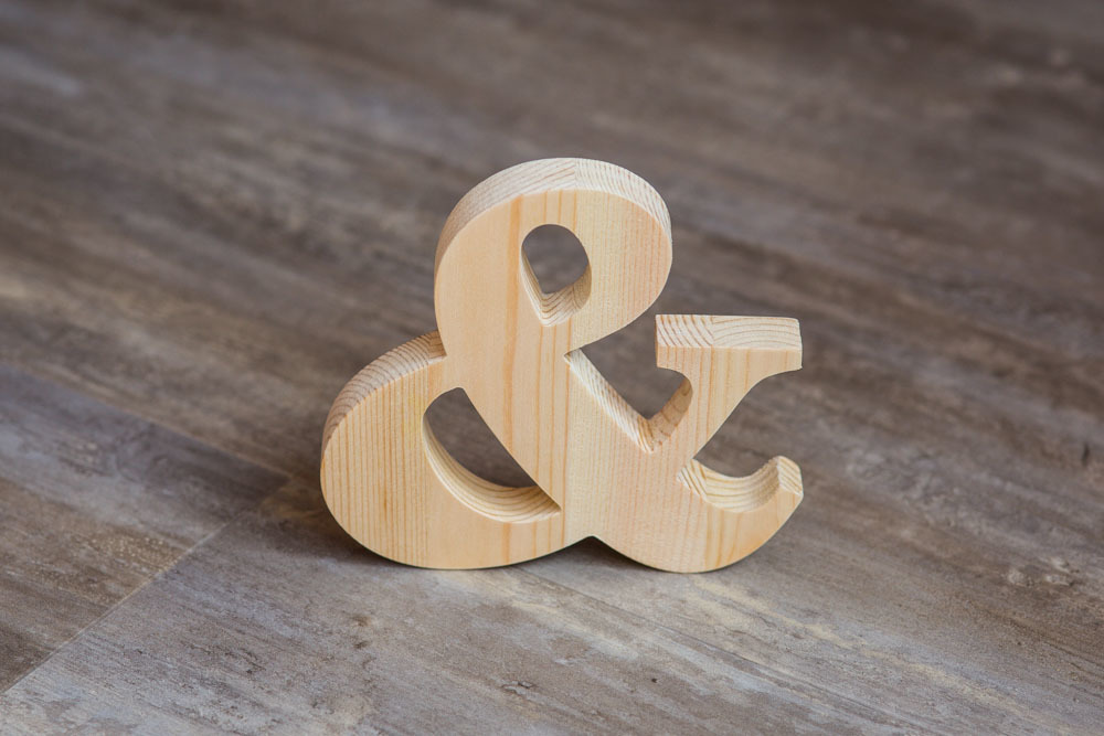 Деревянные буквы под заказ
