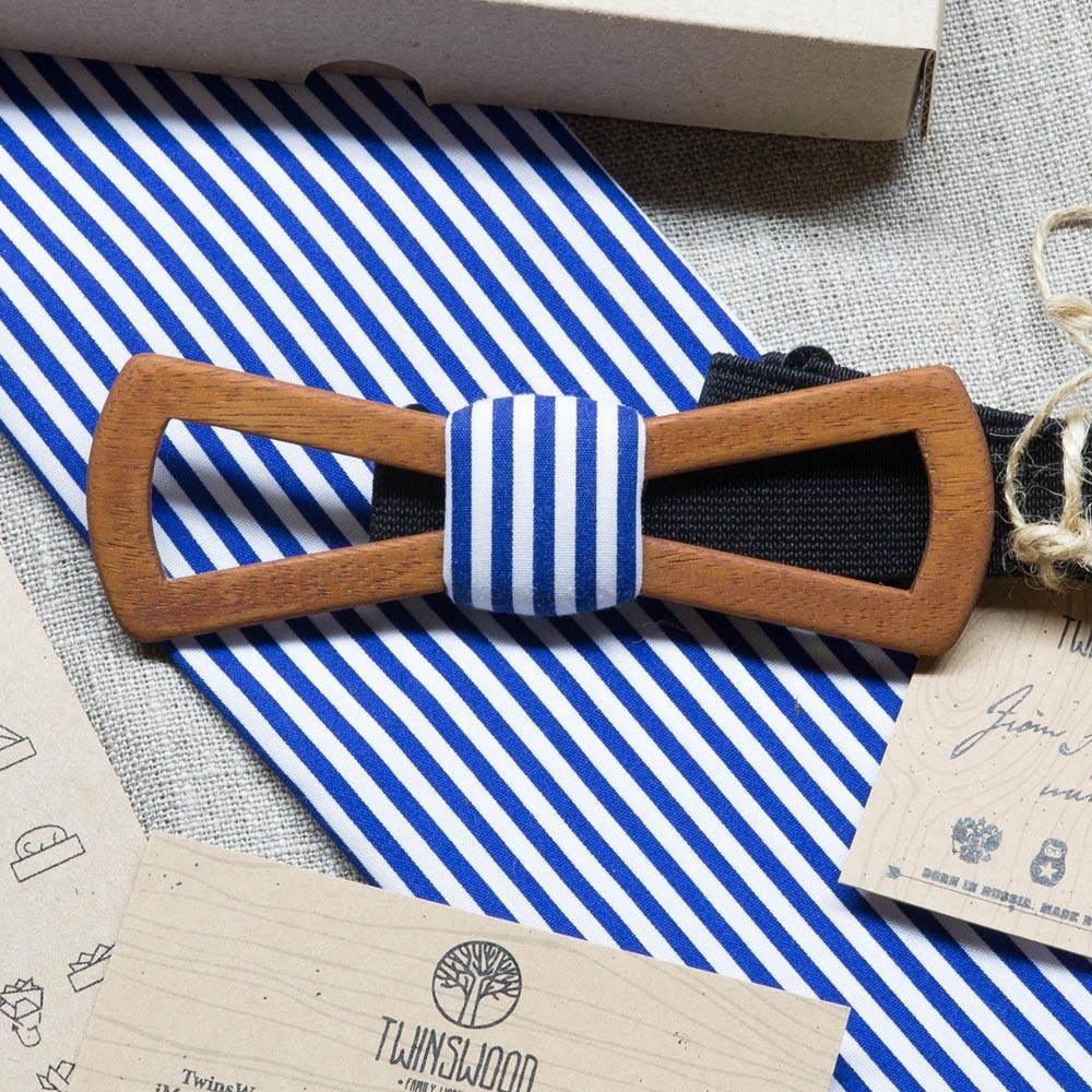 Мужской галстук-бабочка из дерева Утесов Slim Fresh + платок TBT-UtesovSlimFresh