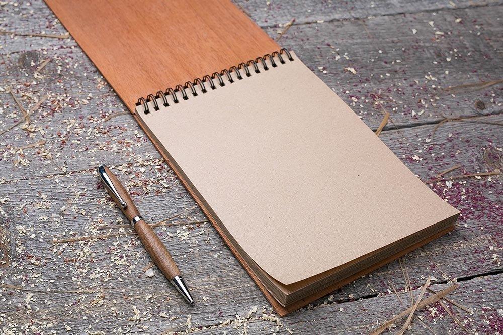 Крафт альбом с деревянной обложкой