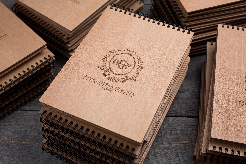 Деревянный блокнот в подарок
