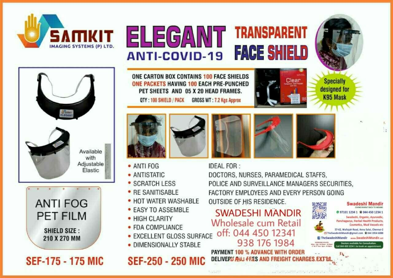 Elegant Anti-Covid-19 Transparent Face Shield
