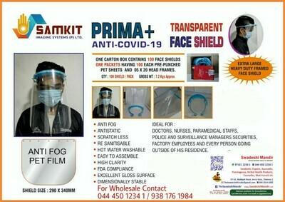Prime Anti-Covid-19 Transparent Face Shield