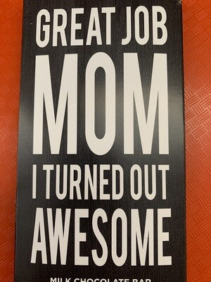 Great Job Mom, milk chocolate bar