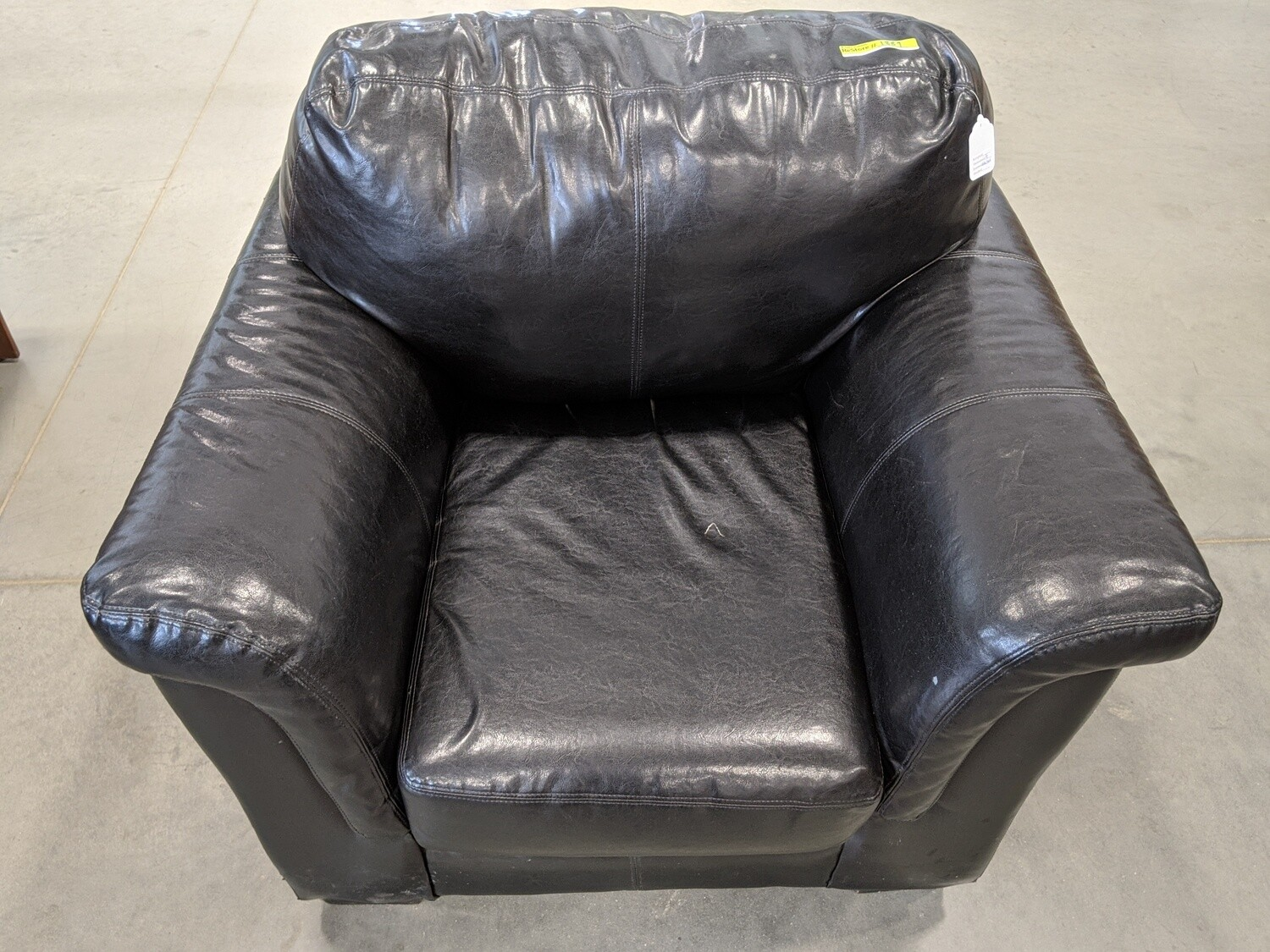 Black Leather Chair #1889