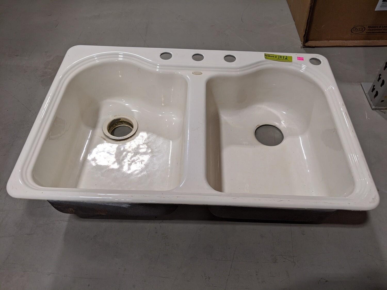 Kohler Cast Iron Double Kitchen Sink #1932