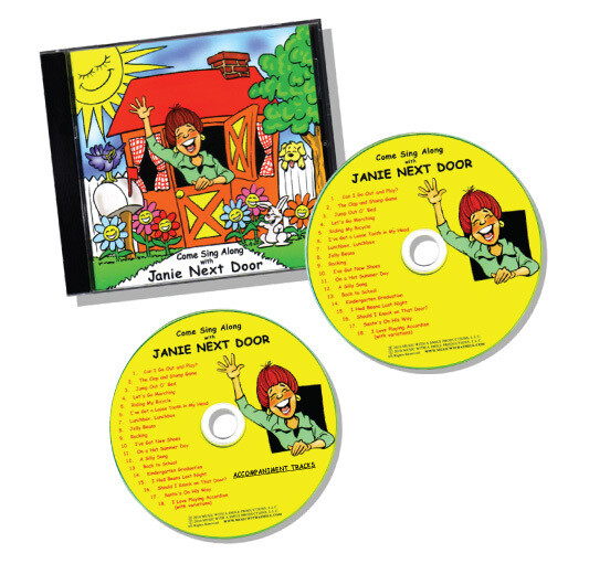 DIGITAL DOWNLOAD of the Come Sing Along with Janie Next Door™ Double CD Set (Including Accompaniment Tracks)