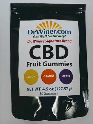 CBD Fruit Gummies  30 ct