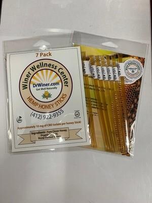 Hemp Honey Sticks   7 Pack