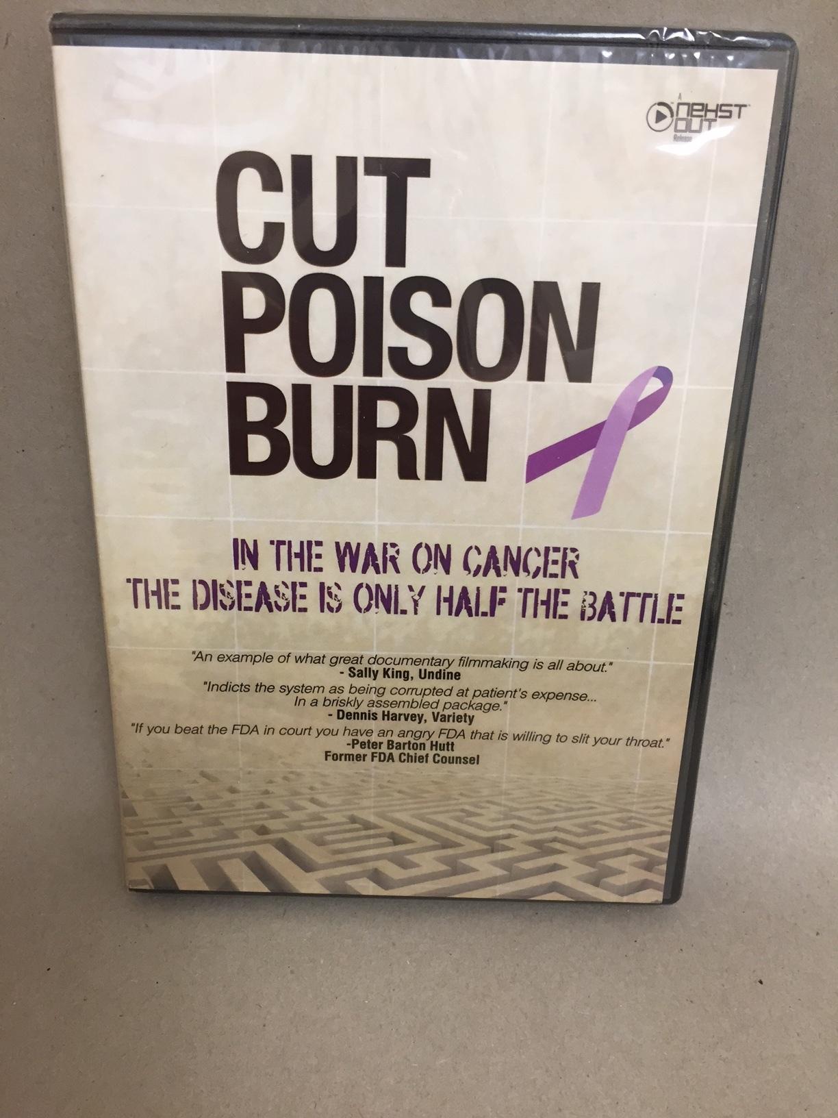 Cut Poison Burn   DVD 2654