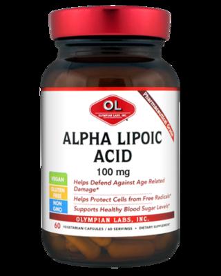 Alpha Lipoic Acid  100 mg  60 Capsules