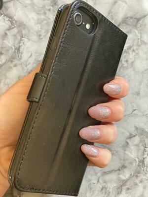Black Flip Book Case With Card Holder