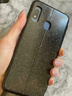 Black Glitter Flip Case