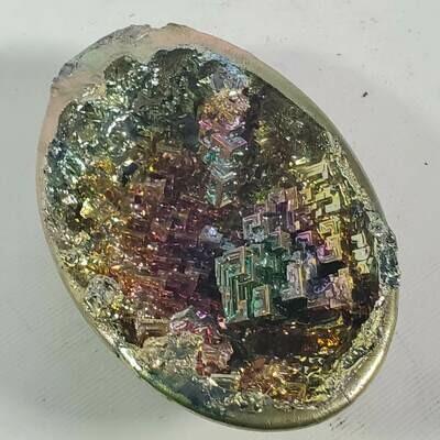 Bismuth Egg Half