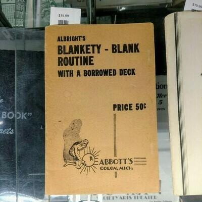 Albright's Blankety Blank Trick With A Borrowed Deck