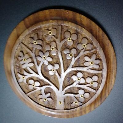Tree of Life Carved Wood Stick Burner 5