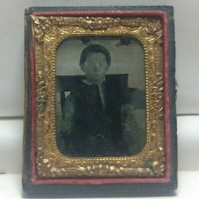 Daguerreotype 1/2 Of A Child In A Chair