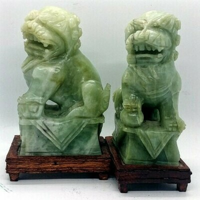 Nepherite Fu Dog Bookends - Collectable