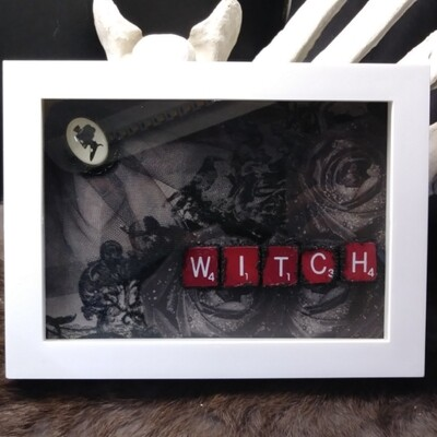 Witch - Framed Scrabble Pieces