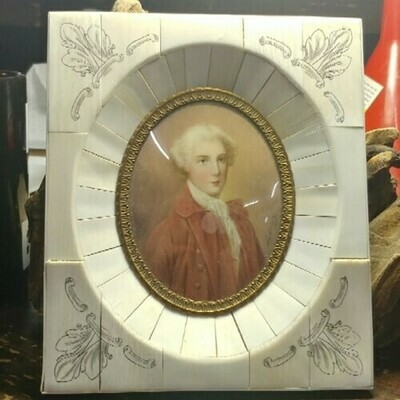 Portrait Of A Gentleman In Celluoid Frame