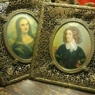 Two Celluloid Portraits -Mona Lisa & Lady