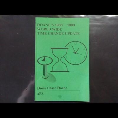 Doan's 1986-1990 Worldwide Time Change Update