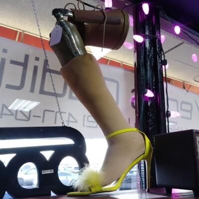 Left Prosthetic Leg W/ Cha-cha Heel