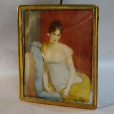1880s French Miniture Painting