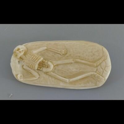 Skeleton Carved In Ox Bone