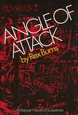 Angel Of Attack By Rex Burns Signed By Author And Dedicated To Murderer Donna Fairchild