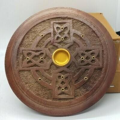 Celtic Cross Cone And Stick Incense Burner